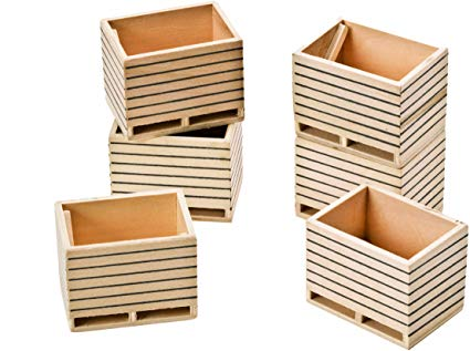 Wooden Potato Boxes 6 Pack